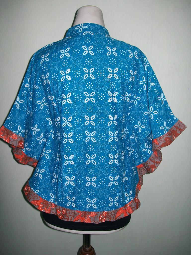 Model Blus Batik Kelelawar Atau Blus Batik Kipas Terbaru Dan Murah [BKP003]