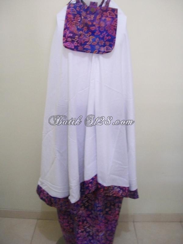 Mukena Batik Cantik Dan Elegan Untuk Dewasa, Asli Mukena Batik Solo [M024]