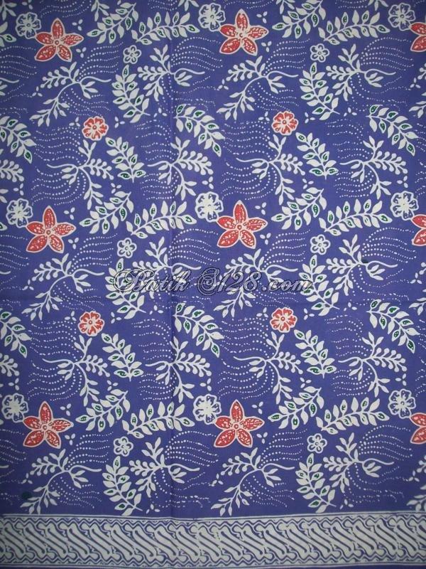 Jual Kain Batik Murah Asli Batik Solo, Warna Biru, Motif Terkini [KCTO340]
