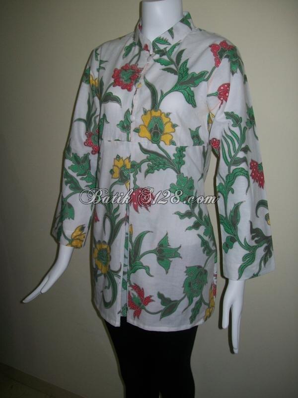Baju Batik Lengan Panjang Untuk Wanita Kantor BLS040  Toko