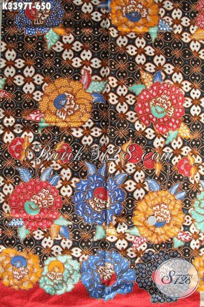 Koleksi Terbaru Batik Kain Khas Solo Jawa Tengah, Batik Halus Dan Motif Paduan Klasik Dan Modern Proses Full Tulis, Cocok Banget Untuk Busana Formal [K3397T-240x110cm]