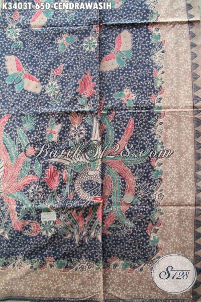 Sedia Kain Batik Tulis Bagus Motif Burung Cendrawasih, Batik Khas Jawa Tengah Cocok Untuk Bahan Busana Resmi Nan Mewah Dan Berkelas [K3403T-240x110cm]
