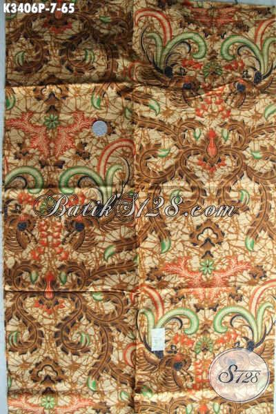 Kain Batik Halus Warna Elegan Klasik, Batik Etnik Motif Bagus Banget Proses Printing, Pas Banget Untuk Busana Wanita Atau Pria Harga 65K [K3406P-200x110cm]