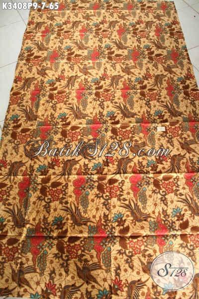 Kain Batik Bahan Baju Kerja Wantia Pria, Batik Halus Motif Mewah Proses Printing Khas Jawa Tengah, Batik Solo Asli Berkelas Harga Terjangkau