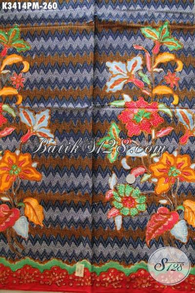 Batik Kain Solo Proses Kombinasi Tulis, Batik Halus Dan Mewah Hadir Dengan Motif Terkini Cocok Untuk Pakaian Santai Atau Resmi, Menunjang Penampilan Lebih Mempesona [K3414PM-240x110cm]
