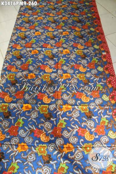 Toko Aneka Produk Batik Solo Online, Sedia Kain Batik Halus Motif Bagus Proses Kombinasi Tulis, Cocok Untuk Busana Wanita Atau Pria Hanya 200 Ribuan [K3416PM-240x110cm]