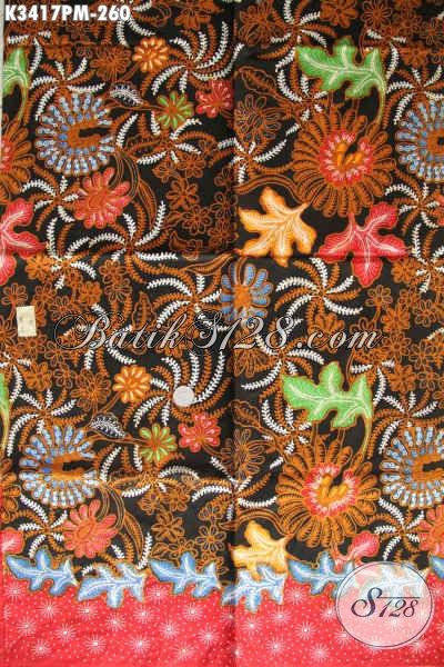 Jual Kain Batik Harga Grosir, Batik Halus Kwalitas Premium Motif Mewah Proses Kombinasi Tulis, Cocok Untuk Pakaian Kerja Dan Jalan-Jalan [K3417PM-240x110cm]