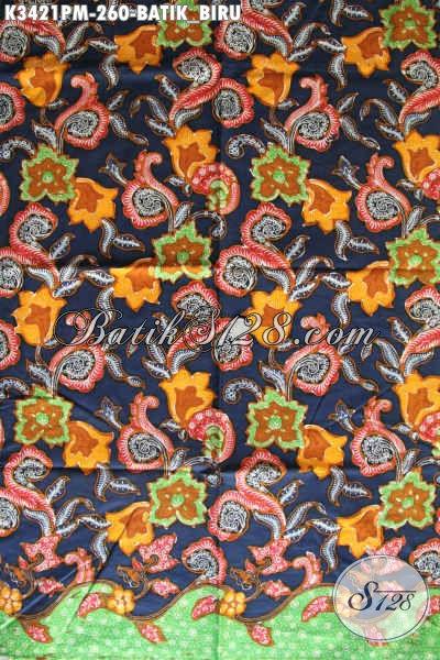 Sedia Kain Batik Solo Proses Kombinasi Tulis, Batik Halus Dan Mewah Motif Bunga Warna Bagus, Cocok Untuk Busana Kerja Wanita Karir