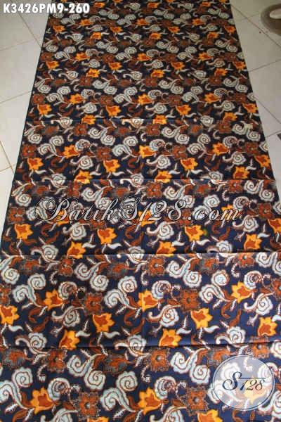 Batik Kain Motif Terbaru Yang Lebih Mewah Dan Berkelas, Batik Solo Kombinasi Tulis Kwalitas Premium Bahan Busana Wanita Pria Hanya 260K [K3426PM-240x110cm]