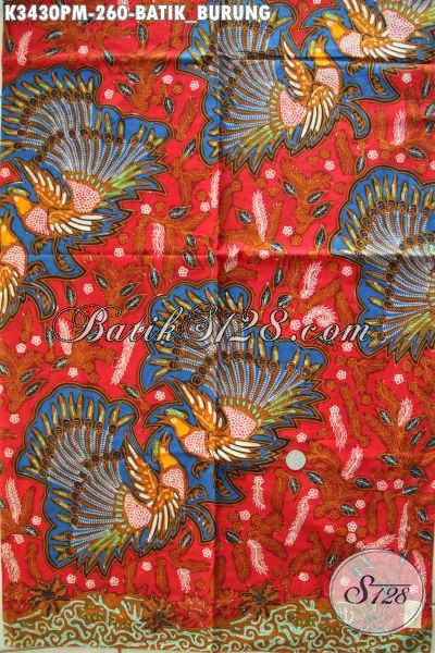 Kain Batik Halus Bahan Busan Cowok, Batik Solo Asli Motif Burung Proses Kombinasi Tulis, Pas Banget Untuk Seragam Kerja Kantoran