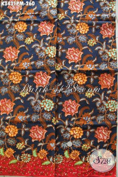 Produk Kain Batik Solo Halus Untuk Busana Wanita Muda Dan Dewasa, Batik Modern Motif Bunga Bahan Halus Proses Kombinasi Tulis Untuk Pakaian Yang Berkelas Dan Modis