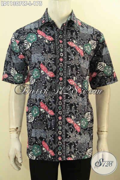 Jual Kemeja Batik Solo Modern Model Lengan Pendek Kwalitas Bagus Harga Terjangkau, Hem Batik Pria Modern Motif Bagus Untuk Penampilan Tampan Menawan