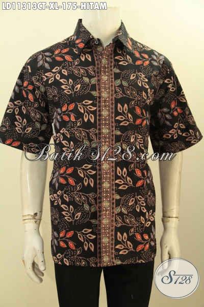 Jual Online Baju Batik Solo Modern Untuk Penampilan Terlilhat Beda, Busana Batik Berkelas Kwalitas Istimewa Model Lengan Pendek Untuk Kerja Dan Kondangan