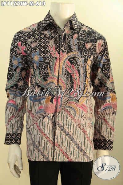 Model Baju Batik Solo Premium Lengan Panjang Size M, Busana Batik Mewah Khas Eksekutif Daleman Full Furing Motif Klasik Tulis Asli Hanya 600 Ribuan