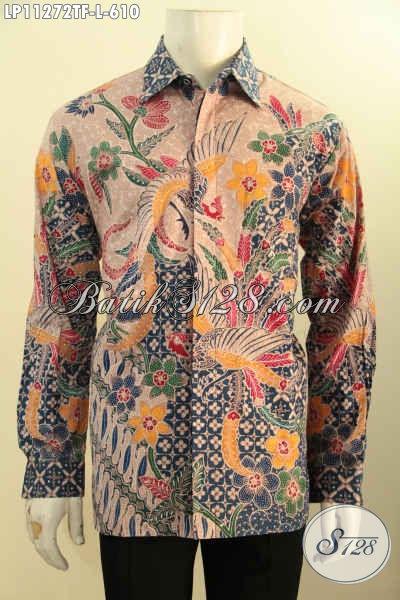 Baju Kemeja Batik Premium Size L Kesukaan Pejabat Dan Eksekutif, Pakaian Batik Full Tulis Lengan Panjang Di Lengkapi Lapisan Furing, Pas Banget Untuk Acara Formal