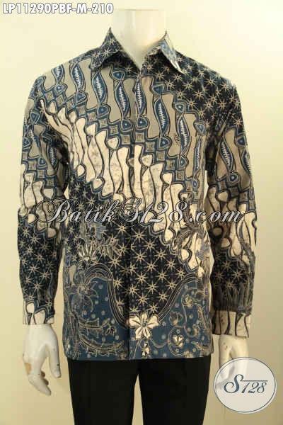 Baju Kemeja Batik Elegan Motif Klasik Printing Cabut, Busana Batik Solo Jawa Tengah Untuk Acara Resmi Dan Berkelas Hanya 200 Ribuan
