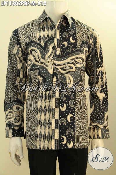 Baju Batik Pria Halus Lengan Panjang Motif Bagus Dan Elegan, Kemeja Batik Istimewa Full Furing Bahan Adem Kwalitas Istimewa Untuk Kerja Rapat Dan Kondangan