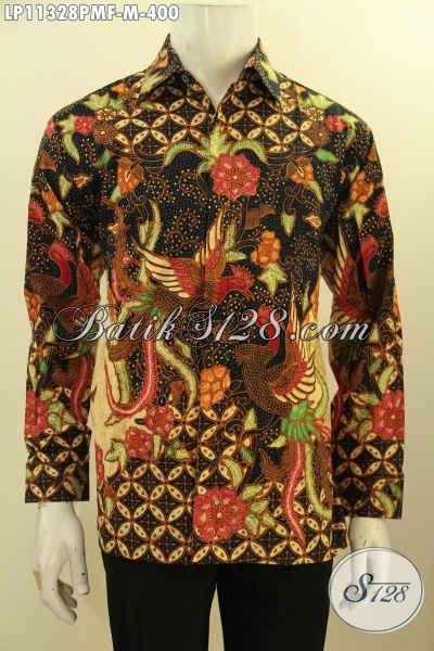 Batik Kemeja Premium Lengan Panjang Full Furing, Busana Batik Printing Mewah Halus Bahan Adem Motif Bagus Harga 400K