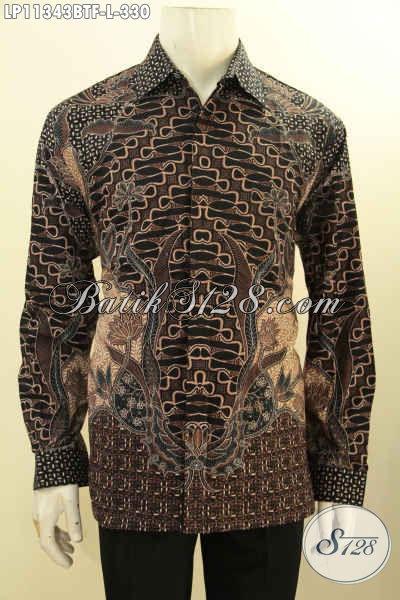 Baju Kemeja Batik Size L Buatan Solo Asli, Hem Batik Elegan Lengan Panjang Full Furing Bahan Adem Kwalitas Istimewa Untuk Kerja Dan Acara Resmi Tampil Berkelas Dan Mewah