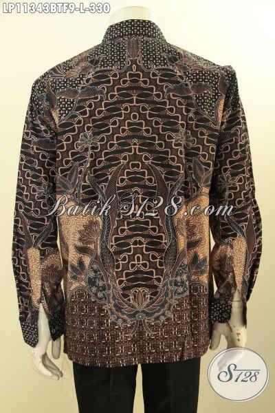 Baju Kemeja Batik Pria Terkini, Hem Batik Modis Halus Lengan Panjang Mewah Lengan Panjang Full Furing Untuk Kerja Dan Acara Resmi, Tampil Tampan Menawan [LP11343BTF-L]