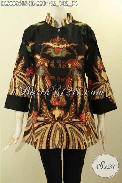 Agen Baju Batik Online Terlengkap, Sedia Busana Batik Solo Jawa Tengah Nan Istimewa Bahan Halus Proses Tulis Soga Model Palig Baru, Bikin Penampilan Terllihat Beda Dan Gaya
