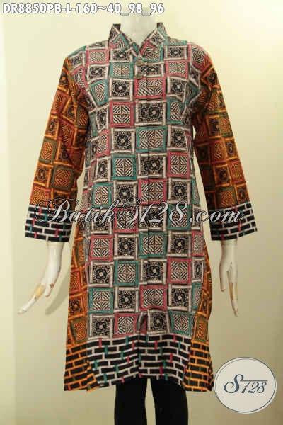 Produk Baju Batik Atasan Wanita Untuk Kerja model Model Lengan 7/8 Kerah Shanghai Motif Unik Proses Printing Cabut Hanya 100 Ribuan Saja