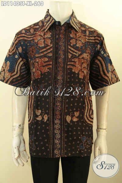 Baju Batik Tulis Elegan Cowok Lengan Pendek, Hem Batik Solo Masa Kini Kwalitas Premium Non Furing, Bisa Untuk Kerja Atau Kondangan