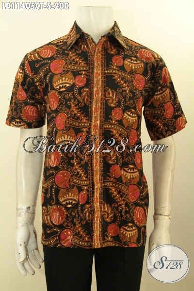 Pusat Baju Batik Online Untuk Pria, Sedia Kemeja Batik Keren Motif Elegan Cap Tulis, Cocok Banget Untuk Kerja Dan Acara Resmi [LD11405CT-S]