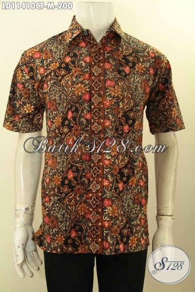 Produk Baju Batik Pria Terkini, Hadir Dengan Motif Bagus Model Lengan Pendek Kwalitas Istimewa Harga Terjangkau