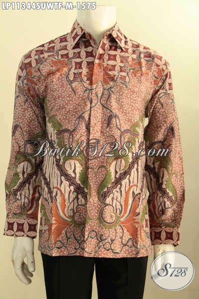 Busana Batik Super Mewah, Pakaian Batik Elegan Lengan Panjang Full Furing, Baju Batik Solo Halus Motif Klasik Tulis Bahan Sutras Twis Hanya 1 Jutaan