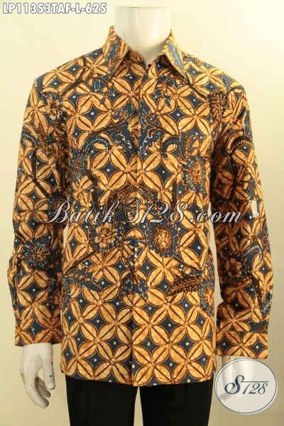 Busana Batik ELegan Motif Klasik Tulis Warna Alam, Pakaian Batik Solo Istimewa Full Furing Model Lengan Panjang, Bisa Untuk Kondangan Dan Rapat [LP11353TAF-L]