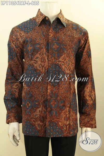 Kemeja Batik Premium Lengan Panjang Full Furing, Busana Batik Elegan Motif Bagus Proses Tulis Warna Alam, Menunjang Penampilan Saat Kerja Lebih Berkelas
