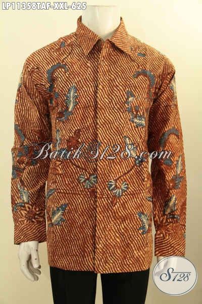 Aneka Busana Batik Solo Premium Untuk Eksekutif, Hem Batik Lengan Panjang Full Furing Halus Motif Bagus Tulis Warna Alam, Penampilan Lebih Sempurna Dan Keren