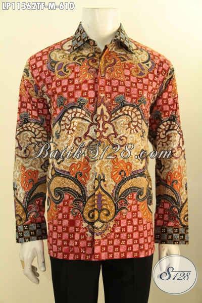 Koleksi Busana Batik Mewah Lengan Panjang Full Furing, Baju Batik Istimewa Tulis Asli Motif Bagus Dan Berkelas, Bikin Pria Terlihat Mempesona