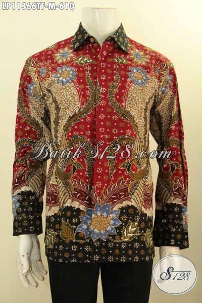 Pakaian Batik Solo Terbaik Kesukaan Ekmud, Busana Batik Pria Muda Motif Bagus Tulis Asli Model Lengan Panjang Pakai Furing, Cocok Untuk Acara Resmi [LP11366TF-M]