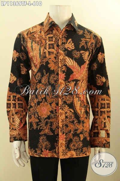 Toko Busana Batik Mewah Solo Jawa Tengah, Jual Online Kemeja Batik Premium Kekinian Lengan Panjang Berkelas Full Furing Motif Bagus Proses Tulis, Penampilan Lebih Mempesona