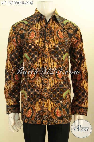 Batik Kemeja Solo Mewah Halus Lengan Panjang Premium, Pakaian Batik Nan Berkelas Full Furing Motif Klasik Proses Tulis, Pas Banget Untuk Acara Resmi