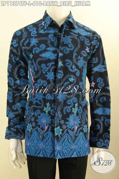 Baju Kemeja Batik Pria Model Terbaru, Busana Batik Mewah Lengan Panjang Premium Di Lengkapi Lapisan Furing Motif Elegan Tulis Asli Harga 600 Ribuan