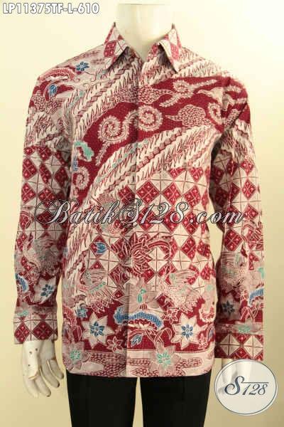 Pakaian Batik Mewah Lengan Panjang Khas Pejabat, Busana Batik Kerja Eksekutif Motif Terkini Tulis Asli Bahan Adem Full Furing, Penampilan Lebih Istimewa