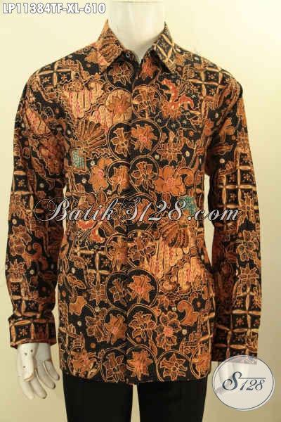 Baju Batik Premium Solo Lengan Panjang Nan Istimewa, Busana Batik Halus Full Furing Bahan Halus Motif Bagus Proses Tulis, Menunjang Penampilan Lebih Sempurna