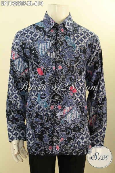 Busana Batik Premium Masa Kini Desain Mewah Dan Kekinian, Pakaian Batik Mewah Berkelas Motif Tulis Asli, Penampilan Istimewa Bak Eksekutif [LP11385TF-XL]