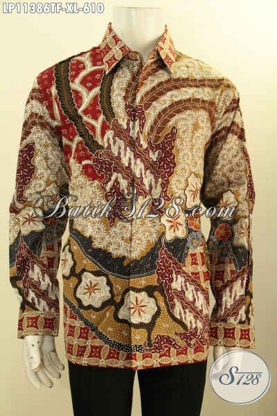 Pusat Baju Batik Solo Premium Online, Sedia Kemeja Lengan Panjang Full Furing Nan Elegan Bahan Halus Motif Terkini Nan Berkelas Proses Tulis, Hadir Dengan Harga Yang Terjangkau