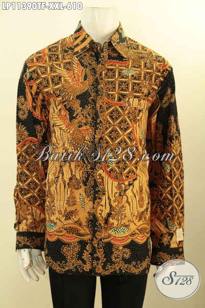 Baju Batik Kerja Elegan Jumbo, Busana Batik Istimewa Untuk Lelaki Gemuk Bikin Penampilan Gagah Mempesona, Bahan Adem Motif Klasik Tulis Asli Dan Pakai Furing
