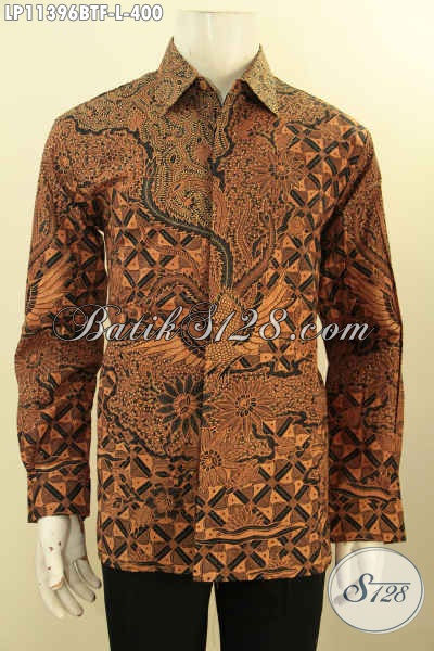 Kemeja Batik Formal Motif Klasik Nan Elegan, Busana Batik Bagus Lengan Panjang Full Furing Bahan Adem Proses Kombinasi Tulis Harga 400K