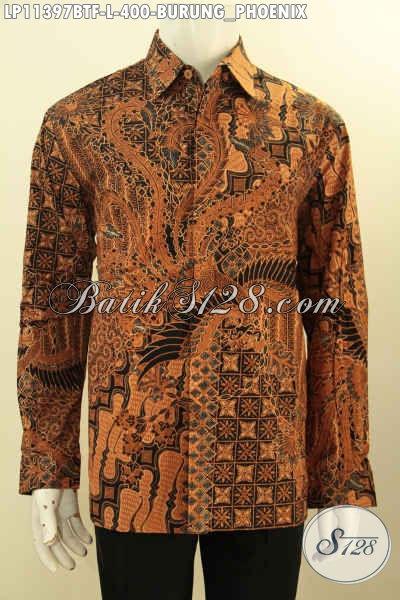 Baju Batik Kondangan Lengan Panjang, Busana Batik Premium Solo Full Furing Bahan Adem Motif Klasik Kombinasi Tulis, Penampilan Gagah Menawan