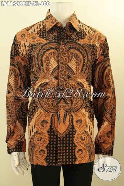 Pakaian Batik Premium Lengan Panjang Nan Berkelas, Busana Batik Solo Masa Kini Full Furing Motif Klasik Kombinasi Tulis, Pas Banget Untuk Rapat Atau Kondangan