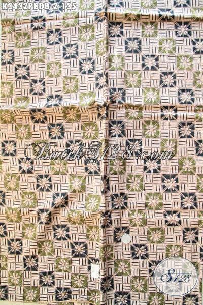 Kain Batik Untuk Busana Kerja Dan Santai, Batik Printing Solo Halus Bahan Dolby Kwalitas Bagus Motif Terbaru Harga Terjangkau [K3432PBDB-240x110cm]