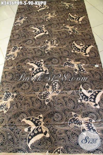 Kain Batik Lawasan Halus Motif Kupu, Batik Elegan Bahan Jarik Nan Mewah Hadir Dengan Harga Murah Meriah [K3436PB-240x110cm]
