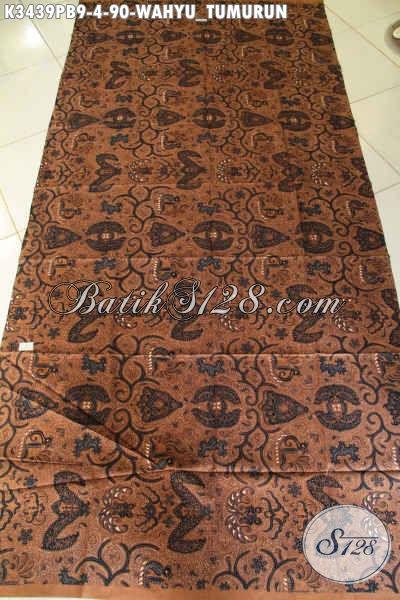 Kain Batik Klasik Halus Kwalitas Istimewah, Batik Lawasan Khas Solo Jawa Tengah Motif Wahyu Tumurun Bahan Jarik Untuk Acara Adat [K3439PB-240x110cm]