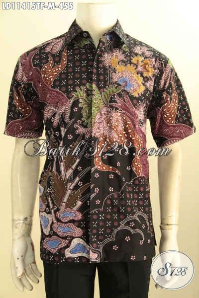 Kemeja Batik Pria Premium Lengan Pendek Halus Motif Bagus Daleman Full Furing, Istimewa Buat Ngantor Proses Tulis Asli